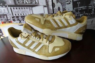 RARE 2008 Adidas Originals Zx 800 Cuir Gold Baskets 018602