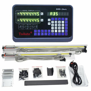 3//2Axis Digital Readout DRO Display 5µm TTL Linear Scale CNC Milling Lathe Kit