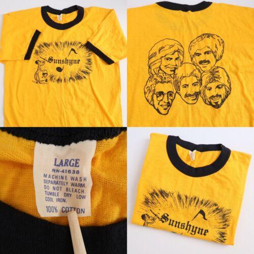 Vintage 70s Vancouver Rock Band Sunshyne Ringer T
