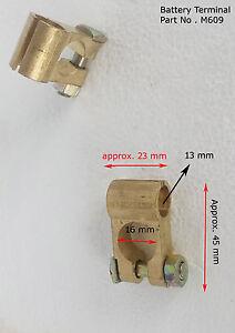 2 piezas 12 V Batería Terminales Conectores Pinzas Coche Furgoneta Caravana Autocaravana VE-ve