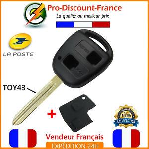 Coque-Telecommande-Plip-Cle-2-Boutons-Pour-TOYOTA-Yaris-RAV4-Celica-Prius-TOY43
