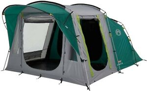 Coleman Tent Oak Canyon 4, 4 Person Family Tent with Blackout Bedroom Technology