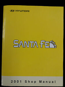 genuine hyundai santa fe workshop manual 2001 ebay rh ebay ie hyundai santa fe 2001 workshop manual pdf 2001 hyundai santa fe service manual