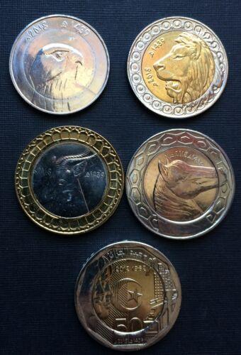 bimetallic Algeria 10-20-50-100-200 Dinars 2018 Lot of 5 coins bimetal
