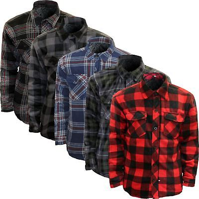 search for official selected material sells MENS PADDED SHIRT QUILTED LINED LUMBERJACK FLANNEL WORK JACKET WARM THICK  TOP | eBay