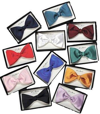 FREE POST  Bow Tie Black//Navy//Bt Red//Jade//Pink//Gold//Royal Blue   BNIP