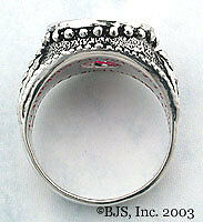 "Badali Hobbit ™ Dwarven Ring of Power ™ Silver /""Synthétique Rubis/"" LOTR Tolkien en Stock"