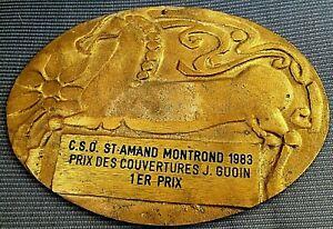 Ancienne Plaque De Concours -1er Prix C.s.o. St.amand Montrond- Bronze -1983 Pour AméLiorer La Circulation Sanguine