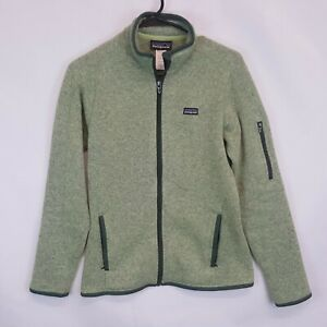 Patagonia-Womens-Better-Sweater-Full-Zip-Fleece-Jacket-Small-Endive-Green-Mint-S
