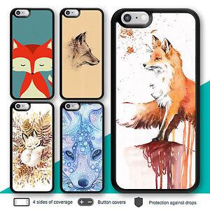 iPhone-X-8-7-Plus-Case-6s-6-Fox-Animal-Bumper-Print-Cover-for-Apple-SE-5c-5s-4s