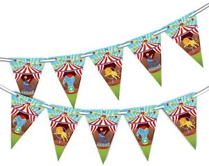 Animal-Circus-Bunting-15-flags-for-Unique-Decoration-by-Party-Decor