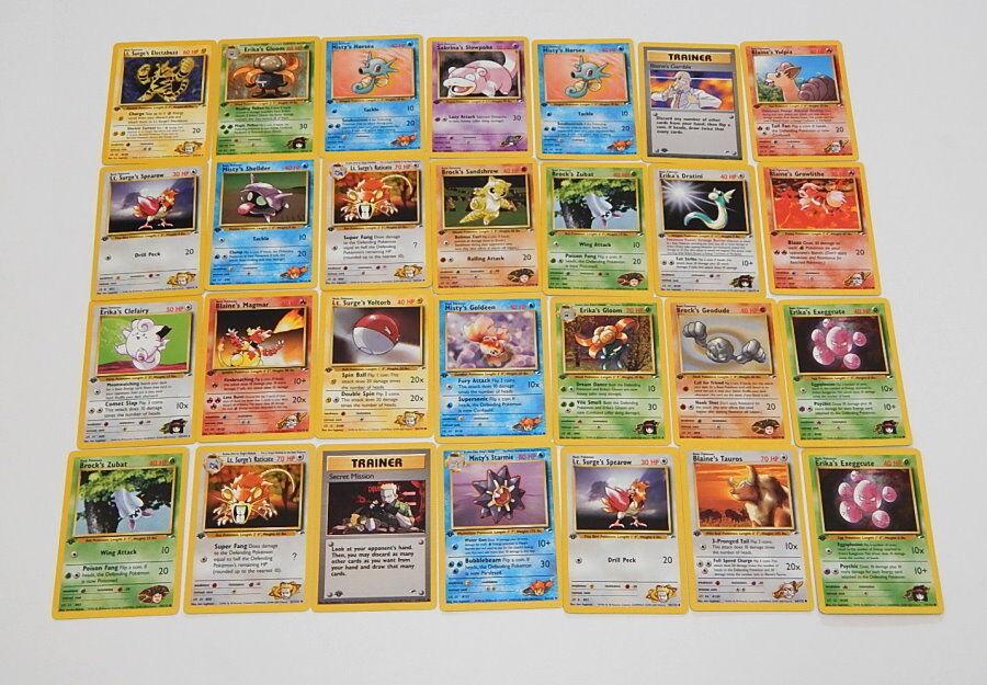 Viele 28 fitnessstudio helden erste ausgabe spielte mit pokémon - karten r9835