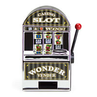 Bars And Sevens Slot Machine Bank Toy- Accepts Coins