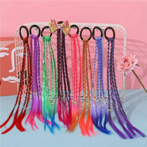 Headband Girls Twist Braid Rope Simple Rubber Band Hair Accessories Kids Wig US
