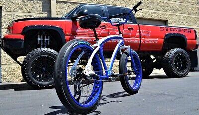 Fat Tire Beach Cruiser Bike  SOUL STOMPER 3 speed gloss white storm trooper