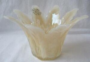 Genuine Italian Art Glass Bowl Honey Almond Tammaro Made in Italy Murano No 201