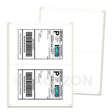 400 Shipping Labels 85x55 Rounded Corner Self Adhesive 2 Per Sheet Packzon