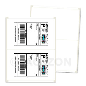 400 Shipping Labels 8.5x5.5 Rounded Corner Self Adhesive 2 Per Sheet PACKZON® 723260998350