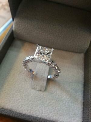 3.20ct Oval /& Round Diamond 925 Sterling Silver Women/'s Engagement Wedding Ring