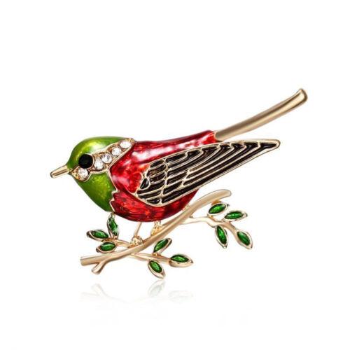 Animal Birds Enamel Crystal Rhinestone Brooch Pin Womens Costume Jewellery Hot