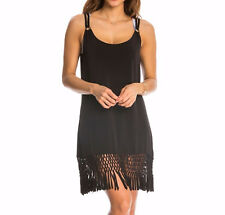 5076d5a818 item 3 NEW Dotti Black Sleeveless Macrame Fringe Swimsuit Cover Up Dress M  Medium - NEW Dotti Black Sleeveless Macrame Fringe Swimsuit Cover Up Dress  M ...