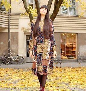 ZARA-Long-Midi-Patch-travail-robe-taille-S-M