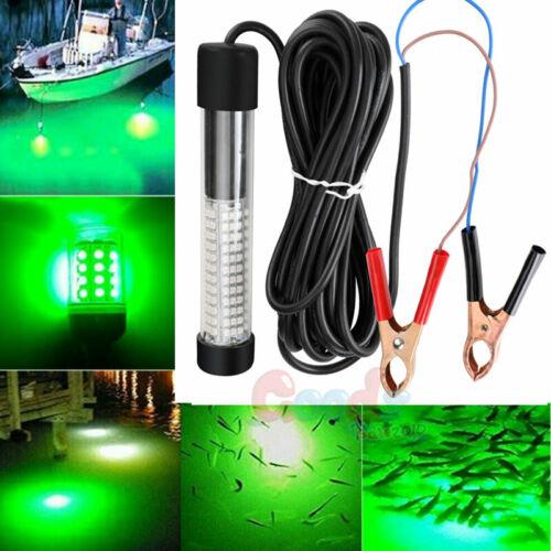 120//180 LED Green Underwater Submersible Night Fishing Light Attract Fish 12V