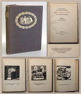 Graabe-Scherz-Satire-Ironie-Lustspiel-1920-12-Orig-Holzschnitte-Thylmann-xy
