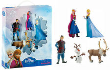 Bullyland Disney Frozen 5 Figure Presentation Set Anna Elsa Olaf Sven Kristoff