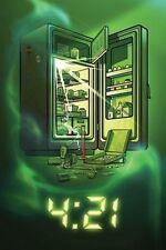 4:21 WEED POSTER - 24x36 FRIDGE MARIJUANA POT SMOKING 10310