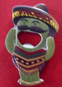 Vintage-Collectible-Metal-3-039-039-Fridge-Magnet-amp-Bottle-Opener-Cactus