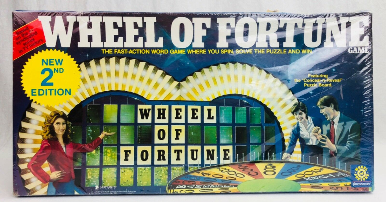 Vintage 1985 Wheel of Fortune Board Game 2nd Edition By Pressman ~ Nuovo & Sealed
