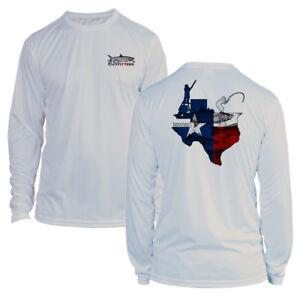 Long Sleeve Microfiber UPF UV Texas Flats Fishing Shirt - Light Gray