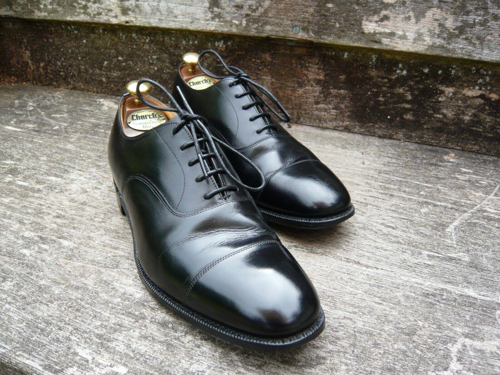 Iglesia Oxford Calzado Para Hombres-Negro – Balmoral – UK 9 – Excelentes Condiciones