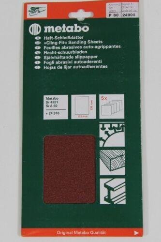 25x Metabo 24906 Haftschleifblatt 113x235 mm P 80