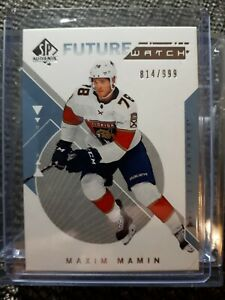2018-19-SP-authentic-future-watch-Auto-Maxim-Mamin-814-999-Florida-Panthers