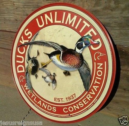 Ducks Unlimited Tin Hunting Sign Wall Bar Garage Decor Clic Vintage Ebay