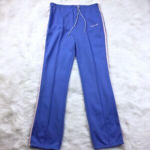 Details about Vintage 70's ADIDAS Trefoil Track Sweat Pants Size S Blue One Stripe Retro