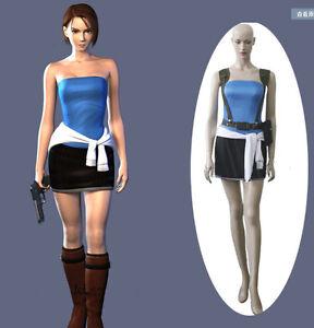 Custom Made Resident Evil 3 Jill Valentine Cosplay Costume Free