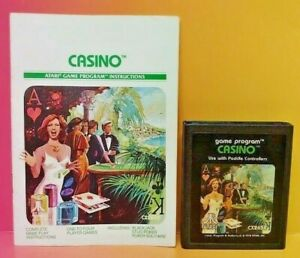 Atari-2600-Casino-Game-amp-Instruction-Manual-Tested-Works-Rare