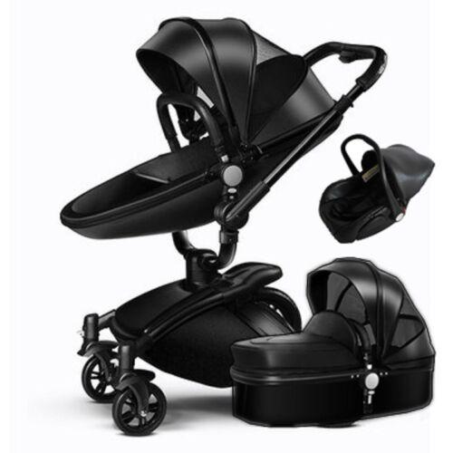 3 in 1 Baby Stroller Newborn Pram high Carrycot Pushchair Travel Buggy/&Car Seat