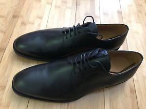 b794d0cc68e1 Bally Of Switzerland Salfano Black Calf Plain Leather Shoes Size 10 ...