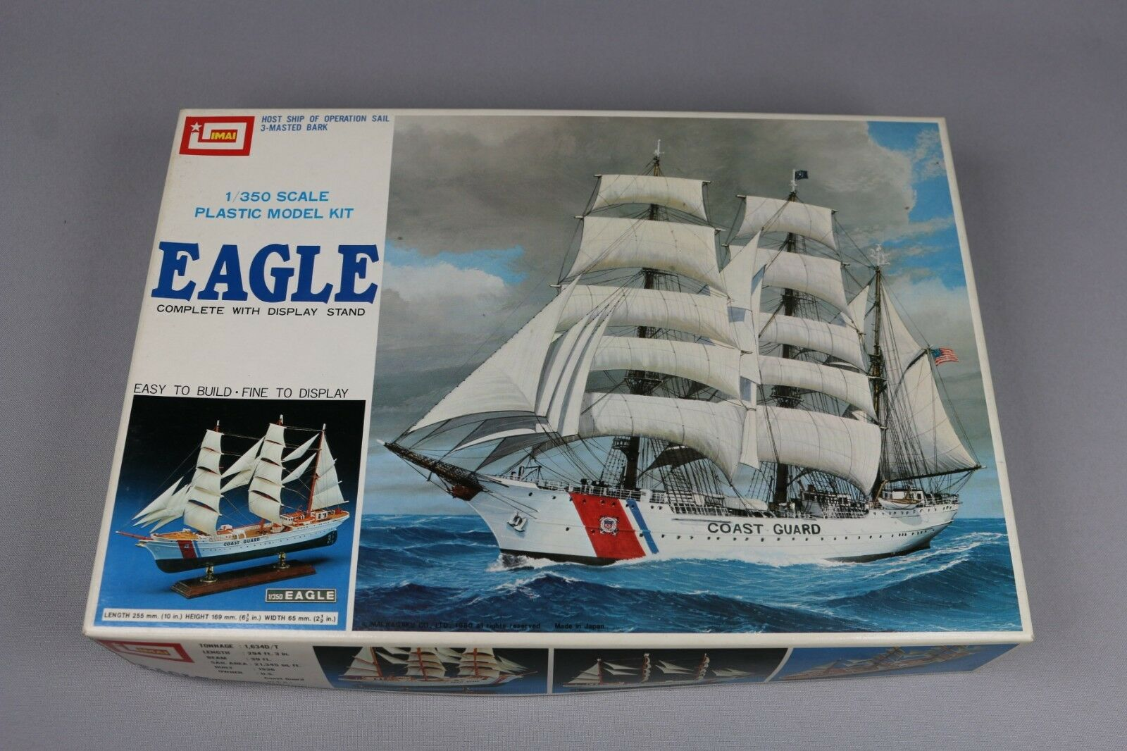 Zf929 IMAI 1 350 Model Boat b-931 Eagle host of Operation Sail 3 masted
