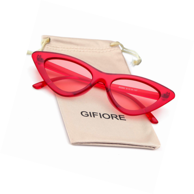 d3cd42067a83 Gifiore Retro Vintage Cateye Sunglasses for Women Clout Goggles Plastic  Frame Gl