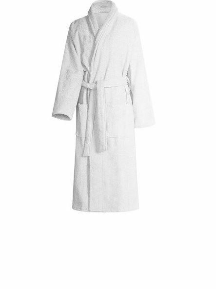 Charter Club Luxe Cotton Terry Long Wrap Robe Bright White SM NWT