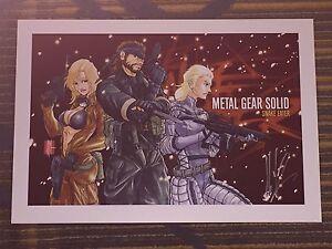 Details About 2016 Wondercon Metal Gear Solid Snake Eater Art Print Signby Jeff Martinez 13x19