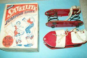 Vintage 1960s Satellite Jumping Shoes & Original Box by Rapaport Bros.