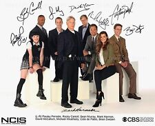NCIS CAST AUTOGRAPHED 8x10 RP PHOTO MARK HARMON PAULEY PERRETTE COTE DE PABLO