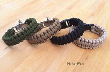 REAL Mil Spec MIL-C-5040H Type III 550 Paracord Survival Bracelet Strap Band
