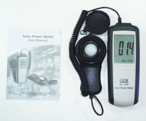 Meter Digital Meter NEW DT-1307 Sun Power Solar Energy Sunlight BTU Watt per sq
